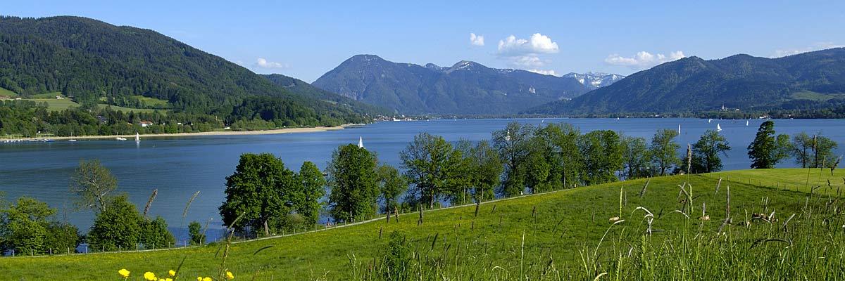 Ferienwohnung Tegernsee , Blick zum Wallberg