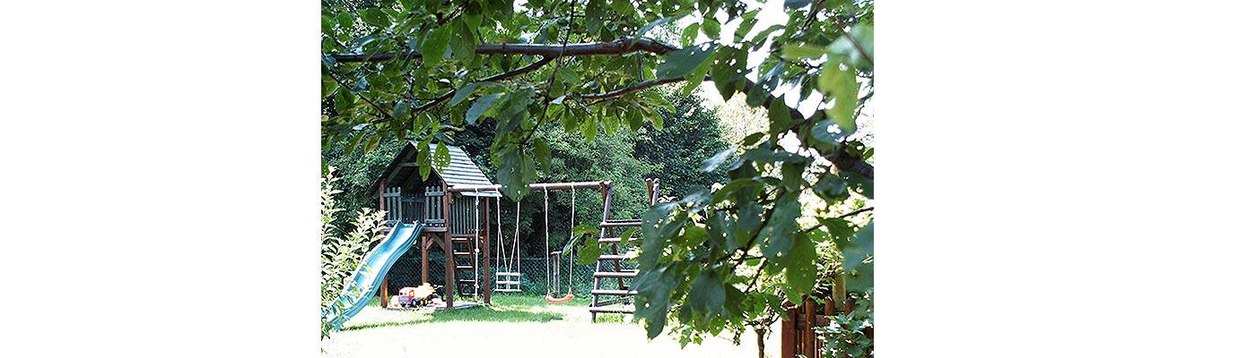 Ferienwohnung Tegernsee - Spielplatz Haus Maria