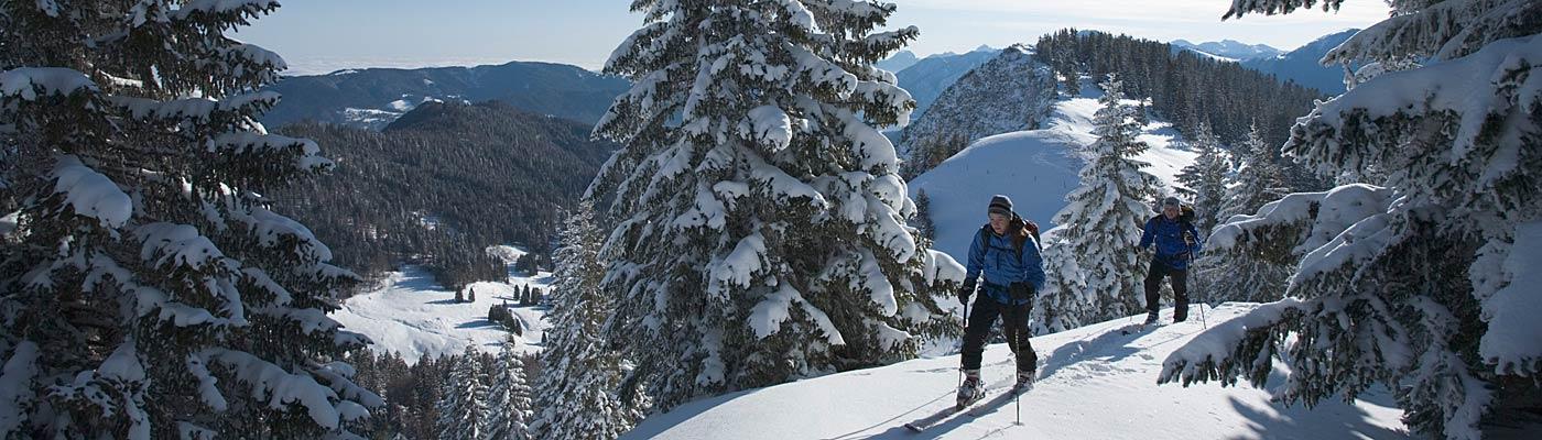 Winterurlaub am Tegernsee, Skitour Hirschberg