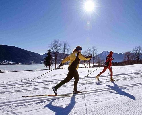 Langlaufen am Tergernsee