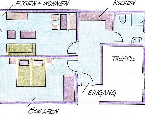 Ferienwohnungen Maria, 83700 Rottach-Egern, Grundriss FeWo Riederstein