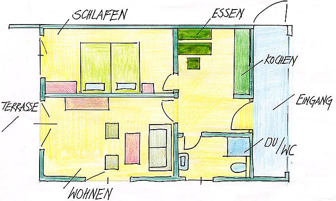 Ferienwohnungen Maria, 83700 Rottach-Egern, Grundriss FeWo Setzberg
